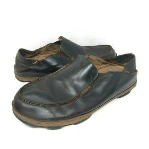 Olukai Moloa Shoes Brown Slip On Moccasins Leather